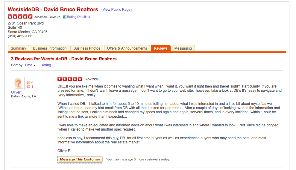 Oliver review Testimonials